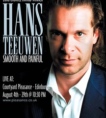 Hans Teeuwen Smooth and Painful Edinburgh Festival Fringe promo poster