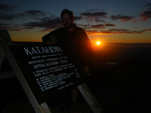 Chris on Katahdin @ sunrise