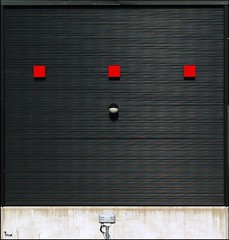 three red squares and one dot (TeRo.A) Tags: red wall three punainen kolme sein pentaxk10d creattivit