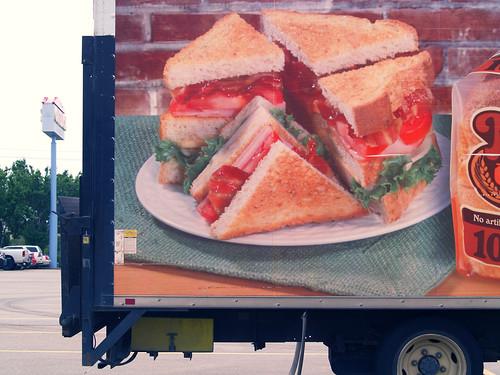 truck sandwich