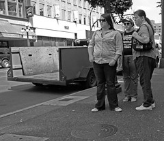 the trailer has been unloaded (Professional Recreationalist) Tags: street blackandwhite white black island photography bc god britishcolumbia fat jesus streetphotography victoria vancouverisland trailer brucedean professionalrecreationalist fitness obesity fit wwjd bulge jesuschrist goddamnit trailertrash allaboard whatwouldjesusdo muffintop blackandwhitestreetphotography
