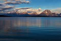 "Jackson Lake and Teton Range (IronRodArt - Royce Bair (""Star Shooter"")) Tags: park morning sky lake mountains reflection clouds outdoors dawn quiet mt smooth peaceful tranquility grand jackson clean clear mount national environment teton moran pure range tranquil purity prestine"