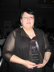 Tracey O'Hara with the 2010 R*BY Award for Romantic Elements
