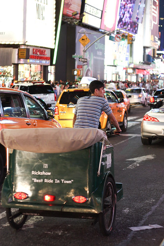 Rickshaw in the City