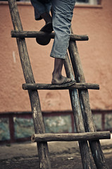 HIV victims can climb ladders too (Sharon Whelchel) Tags: africa people nikon sharon ethiopia addis ababa d90 nikond90 whelchel