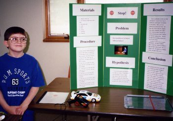 Will's Montessori foundation helped him at age 9 persist with a homeschool science fair project for over 8 hours, typing all the information independently.