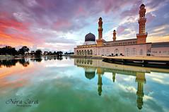 Floating Mosque of Kota Kinabalu (Nora Carol) Tags: water clouds sigma fp kinabalu likas p121s masjidterapung nikond90 noracarol masjidbandaraya cokingndfilter p121l floatingmosqueofkotakinabalu 1020sunsetrefelctionnorth borneosabahkota