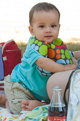Zayden at a picnic