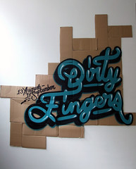 Reception Install (ma.ss flicks) Tags: painting fingers dirty cardboard miscellaneous