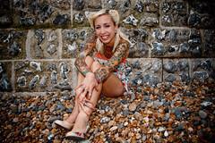China smiles :) (AndyWilson) Tags: china beach vintage brighton sony retro alpha hulahoop a700 modelmayhem