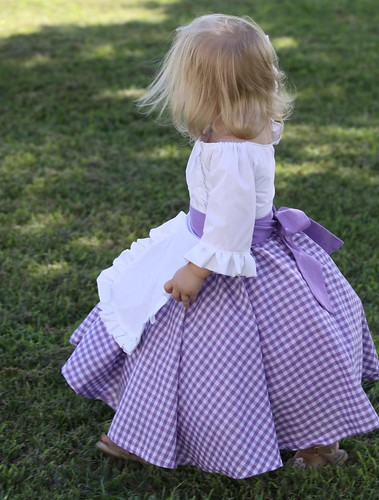 19th Century Inspired Costume Dress for Toddler Girl