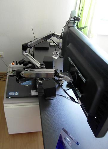 Ergotron back setup