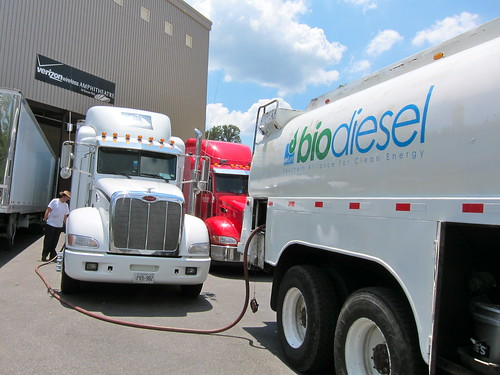 Biodiesel fueling on the Arcade Fire tour