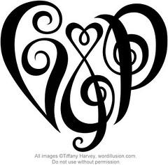 """""""C&P"""" Heart Design"""