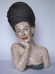 (Melanie Bourget) Tags: sculpture modelage raku visage buste