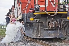 Sweet Montreal (Ronaldo F Cabuhat) Tags: railroad travel wedding vacation people canada love beautiful train photography groom bride couple track raw tour image retrato joy railway visit romance locomotive forever gown weddingdress promise picnik whitedress oldportofmontreal montrealcanada weddingbouquet canonef24105f4lisusm traincoach canoneos5dmarkii cabuhat adobephotoshopcs5 sweetmontreal