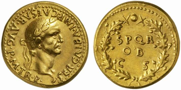 A Roman Gold Aureus of Galba (68-69 C.E.), of Extraordinary Style for a Spanish Mint