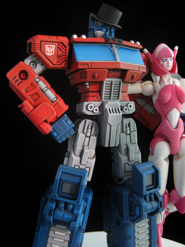 Optimus Prime Wedding Cake Topper