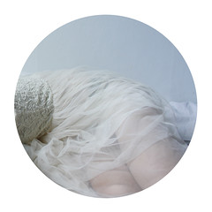 en dag i tystnad (Laura Gommans) Tags: morning blue light selfportrait girl circle dress sweden sleep lace pale fabric tulle lauragommans iamfinallyhappywithwhatimcreatingagain