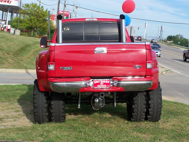 red ford truck 4x4 diesel pickup stack supercab f350 lifted duallie