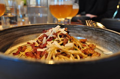 image of Housemade Spaghetti  ... paired with Lost Abbey Inferno Ale during the Lost Abbey / Port Brewing Dinner at Art of the Table courtesy of our Flickr page