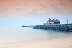 Kuwait - Dawn at the Pier (5:12 AM) (Byron Bueno) Tags: blue pier nikon gulf towers filter series p kuwait arabian byron tobacco bueno d300 cokin gradual 2470mm 80a p124 p123s p020 byronbueno