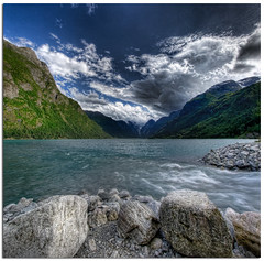 Jostedalsbreen  Nasjonalpark (Mariusz Petelicki) Tags: norway norge glacier hdr jostedalsbreen lodowiec 3xp norwegia skandynawia vertorama mariuszpetelicki
