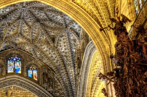 Seville cathedral detail. Detalle de la catedral de Sevilla.