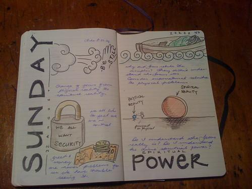 Xx-2010 // Spiritual power sermon sketchnotes