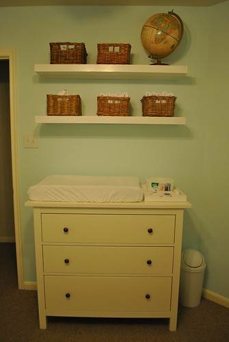 Changing table and evil shelves