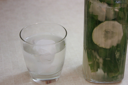 Basil and Cucumber Tea