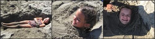 josie in sand