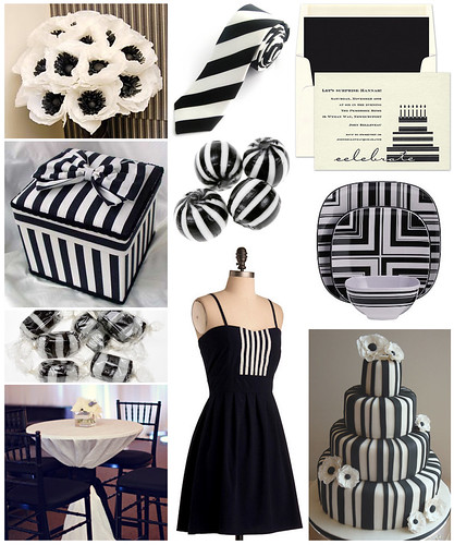 Black and White Striped Birthday