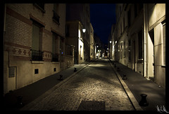 La butte aux Cailles (M2BC) Tags: paris nuit quartier butteauxcaille