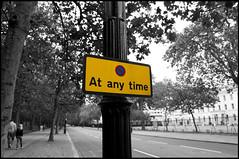 At Any Time (Nicola Azzali) Tags: city white holiday black london nikon parking di bianco londra nero vacanze citt sosta divieto d90