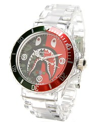 A Bathing Ape Clear Shark Bapex Watch