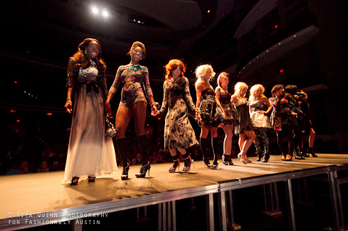 Betsy Johnson show at Austin Fashion Week featuring Krista White, winner of America's Next Top Model