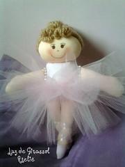 Bailarina Sissi (Luz de Girassol Ateliê) Tags: de bonecas para pano 15 infantil e bebê criança anos aniversário festas mesa tutu bailarina maternidade organza tecido algodão tule lembrancinhas decorativa quartod