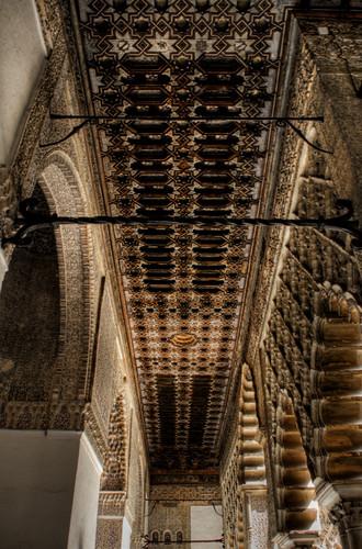 Seville Alcazar ceiling. Techo del Alcazar de Sevilla.