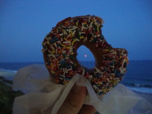the moon through the donut