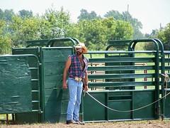Cowboy Woof (JustChuck) Tags: bear gay woof beard crete rodeo 2010 igra ilgra