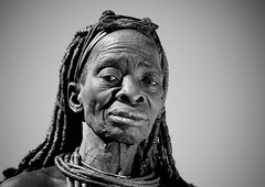 Old Himba woman, Angola (Eric Lafforgue) Tags: africa old people woman tourism face african femme culture tribal human elder tribes blackpeople tradition tribe ethnic namibia cultura tribo vieille himba ango