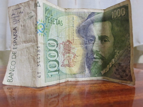 Un billete de 1.000 pesetas