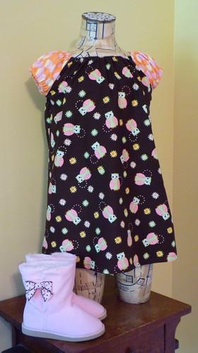 Fall Owl Dress
