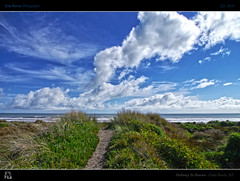 Pathway To Heaven (tomraven) Tags: light sea sky cloud sun beach heaven day path dunes dune hdr pathway fbdg alohagroup tomraven aravenimage passiondclic q32010