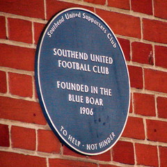 Photo of Southend United Football Club blue plaque