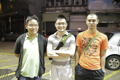 With Singaporean filmmakers Michael Tay and Wesley Leon Aroozoo