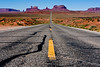 Road to Monument Valley (rolnitzky) Tags: road arizona boat vanishingpoint desert monumentvalley buttes lugger highway163 surfboat pavedroad milemarker13 passingallowed