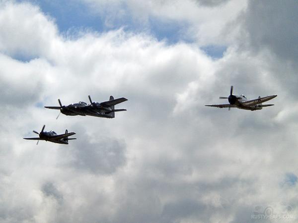 F8F Bearcat, F7F Tigercat, P-47 Thunderbolt