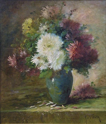 Fanny Fluery (French, 1848-1920) Still Life with Flowers (n.d.) 20 1/2 X 17 1/2 in. Oil on canvas. Private Collection